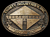 JH23161 GREAT 1970s **TRINITY INDUSTRIES** RAIL CARS RAILROAD SOLID BRASS BUCKLE