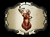 NE23104 VINTAGE 1978 ***BIG BUCK DEER** HUNTING BRASSTONE RAINTREE BELT BUCKLE