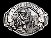 NF03104 VINTAGE 1993 **FIRE FIGHTER** PEWTER ARROYO GRANDE BELT BUCKLE