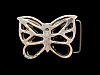 JK27135 VINTAGE 1970s BARON CUT-OUT **BUTTERFLY** SOLID BRASS BELT BUCKLE