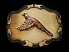 NF15149 VINTAGE 1970s **PHEASANT** BIRD HUNTING RAINTREE BRASSTONE BELT BUCKLE