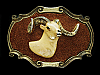 NF19143 VINTAGE 1978 **BIG HORN SHEEP/RAM** BRASSTONE RAINTREE BELT BUCKLE