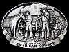 LC05169 VINTAGE 1983 *AMERICAN COWBOY COMMEMORATIVE* BELT BUCKLE