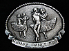 NG11161 *NOS* VINTAGE 1984 **SQUARE DANCE COMMEMORATIVE** PEWTER BELT BUCKLE