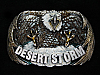 NG15114 *NOS* VINTAGE 1991 **DESERT STORM** MILITARY/ARMED FORCES PEWTER BUCKLE
