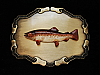 NG17115 *NOS* VINTAGE 1978 **TROUT FISH** FISHING TROPHY RAINTREE BELT BUCKLE