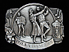 NG19105 *NOS* VINTAGE 1985 **POLKA DANCERS** MUSIC COMMEMORATIVE PEWTER BUCKLE
