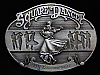 NG29138 VINTAGE 1991 **SQUARE DANCE** COMMEMORATIVE PEWTER ARROYO GRANDE BUCKLE