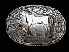 NH05148 VINTAGE 1970s **ARABIAN HORSE** CRUMRINE NICKEL SILVER BELT BUCKLE