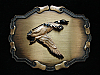NH09104 VINTAGE 1970s **GOOSE IN FLIGHT** BRASSTONE RAINTREE BELT BUCKLE