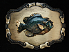 NH09134 VINTAGE 1970s **PERCH FISH** FISHING BRASSTONE RAINTREE BELT BUCKLE