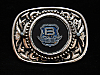 NI01103 VINTAGE 1970s **LETTER B ON SHIELD** UNKNOWN COMPANY BELT BUCKLE