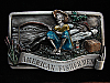 NI01125 VINTAGE 1983 **AMERICAN FISHERMAN COMMEMORATIVE** PEWTER BELT BUCKLE