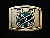 NI01140 VINTAGE 1970s **SVF ON BADGE** UNKNOWN ORGANIZATION/COMPANY BUCKLE