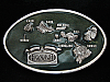 NI03135 VINTAGE 1984 **HAWAII ISLANDS** PEWTER ARROYO GRANDE BELT BUCKLE