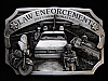 NI05101 *NOS* VINTAGE 1984 **LAW ENCORCEMENT COMMEMORATIVE** PEWTER BELT BUCKLE