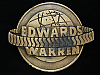 NI09111 VINTAGE 1970s **EDWARDS WARREN** COMPANY BRASSTONE BELT BUCKLE