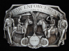 NI11166 *NOS* VINTAGE 1985 **LAW ENFORCEMENT COMMEMORATIVE** PEWTER BELT BUCKLE
