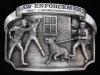 NI11168 *NOS* VINTAGE 1987 **LAW ENFORCEMENT COMMEMORATIVE** PEWTER BELT BUCKLE