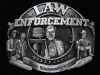 NI11169 *NOS* VINTAGE 1989 **LAW ENFORCEMENT COMMEMORATIVE** PEWTER BELT BUCKLE