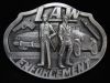 NI11170 *NOS* VINTAGE 1990 **LAW ENFORCEMENT COMMEMORATIVE** PEWTER BELT BUCKLE