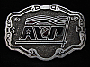 OA01122 VINTAGE 1970s **AVP** COMPANY OR ORGANIZATION HITLINE USA BELT BUCKLE
