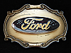 OA23104 VINTAGE 1978 **FORD** MOTOR COMPANY BRASSTONE RAINTREE BELT BUCKLE
