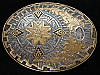 OA23149 VINTAGE 1970s **SOUTHWESTERN DESIGN** ART/FASHION CRUMRINE BELT BUCKLE