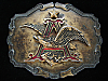 OA25111 VINTAGE 1981 **ANHEUSER-BUSCH** BREWING COMPANY BEER & BOOZE BELT BUCKLE