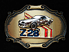 OA25121 VINTAGE 1978 **Z28 CAMARO** SPORTS CAR BRASSTONE RAINTREE BELT BUCKLE