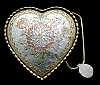 OB02172 *NOS in BOX* 1980s CRUMRINE **FLORAL ENGRAVED HEART** WESTERN BUCKLE