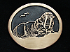 OB13130 VINTAGE 1970s **WALRUS** SEA ANIMAL ARTWORK SOLID BRONZE BELT BUCKLE