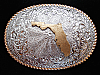 OB19111 *NOS* VINTAGE 1970s **FLORIDA** NICKEL SILVER CRUMRINE BELT BUCKLE