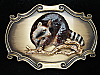 OC03105 *NOS* VINTAGE 1978 **RACCOON** RAINTREE BRASSTONE BELT BUCKLE