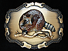 OC05121 VINTAGE 1978 **RACCOON** BRASSTONE RAINTREE BELT BUCKLE