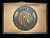 OC13132 VINTAGE 1970s **PKS AWARD FOR SAFETY ACHIEVEMENT** SOLID BRASS BUCKLE