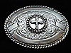 OC13143 REALLY NICE **IRON CROSS** CRUMRINE WESTERN & COWBOY BELT BUCKLE