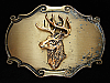 OC19108 VINTAGE 1980 **BIG BUCK DEER** BRASSTONE RAINTREE BELT BUCKLE