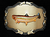 OD09124 VINTAGE 1978 **RAINBOW TROUT FISH** FISHING RAINTREE BELT BUCKLE
