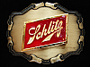 OE01138 *NOS* VINTAGE 1981 **SCHLITZ** BEER BREWING COMPANY RAINTREE BELT BUCKLE