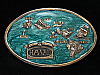 OE07126 *NOS* VINTAGE 1984 **ISLANDS OF HAWAII** BRASSTONE BELT BUCKLE