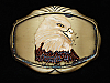 OE13112 VINTAGE 1978 **BALD EAGLE'S HEAD** ART BRASSTONE RAINTREE BELT BUCKLE