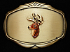 OE13142 *NOS* VINTAGE 1978 **BIG BUCK DEER HEAD** BRASSTONE RAINTREE BELT BUCKLE