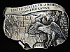 OF01105 VINTAGE 1982 **UNITED STATES OF AMERICA COMMEMORATIVE** PEWTER BUCKLE