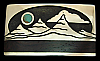 OF06157 GREAT 1980s KENNETH REID ***MOON OVER MOUNTAIN*** WOOD  & STONE BUCKLE
