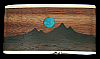 OF06159 VINTAGE 1970s KENNETH REID **MOON & MOUNTAINS** INLAID ARTWORK BUCKLE!