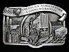OF11163 VINTAGE 1984 **AMERICAN AGRICULTURE COMMEMORATIVE** PEWTER BELT BUCKLE