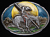 OG05105 VINTAGE 1989 **END OF THE TRAIL** INDIAN ARTWORK PEWTER BELT BUCKLE