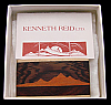 OH04166 *NOS* GREAT 1970s KENNETH REID **MOUNTAIN SCENE** INLAID ARTWORK BUCKLE