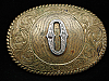OH03111 VINTAGE 1970s INTIAL **O** WESTERN & COWBOY CRUMRINE BELT BUCKLE